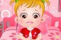 Bébé Hazel a mal au ventre