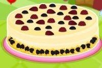 Cheesecake chocolat groseilles