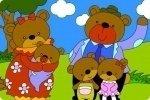 Coloriage de famille ours