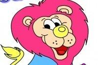 Coloriage lion fier