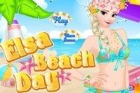 Elsa à la plage