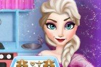 Elsa fait un Pain d'épices