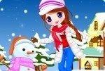 Jeune fille à la neige