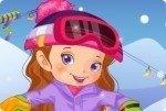 Jeune fille au snowboard