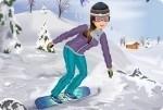 Jeune fille au snowboard 2
