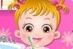 Laver les dents de bébé Hazel