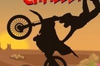 Moto cross dans le désert