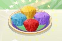 Muffins arc en ciel