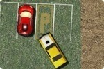 Parking de voiture américaine