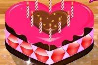 Décorer un gâteau d'Amour