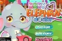 Docteur de bébé éléphant