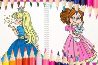 Livre de coloriage Princesses